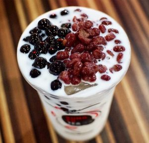 Red bean bubble tea topping