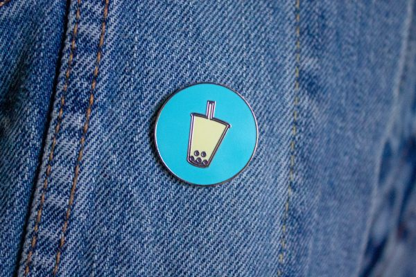 Talk Boba Custom Pin